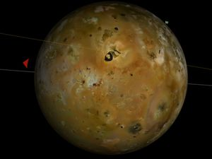 Jupiter et ses principaux satellites ce soir vers 23h (images Redshift)
