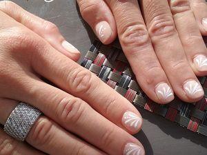 Nail Art Gouttes Blanches