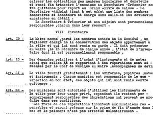 Les statuts de 1933 de l'association