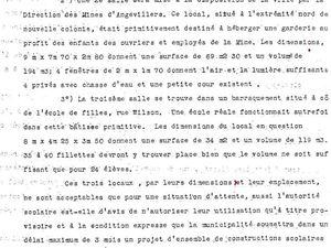 Situation scolaire en 1931 à Algrange et création de nouvelles classes