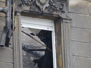 Incendie au n° 99 rue Clemenceau à Algrange pour le réveillon 2016-2017
