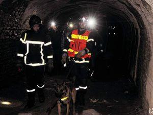 Visite mouvementée de spéléos à la mine la Paix en 2015, à Algrange