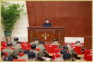 Réunion de la Commission militaire centrale du Parti du travail de Corée