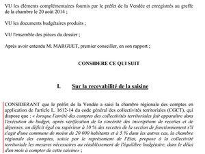 AVIS DE LA CHAMBRE RÉGIONAL DES COMPTES AU 02 SEPTEMBRE 2014