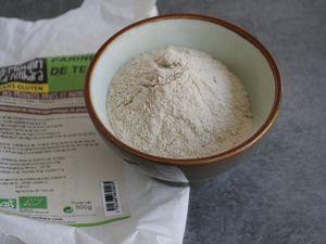 Brownies aux noix et  à la farine de Teff sans gluten