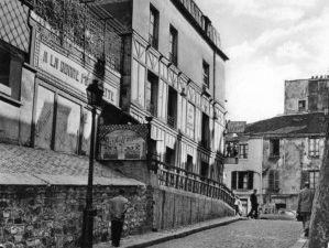 La Maison Rose vue par Utrillo et de nos jours, débat de Gambetta en ballon, la rue des Saules vue par Cézanne et de nos jours