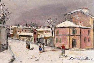 La Maison Rose seen by Utrillo and nowadays Gambetta fleeing in a balloon, the Rue des Saules seen by Cezanne and nowadays