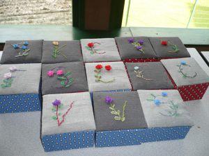 13 enfants de CM1 et CE2 (5 filles et 8 garçons) ont participé à cet atelier cartonnage...pour offrir à leur maman