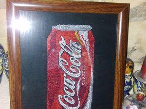 pour mon seigneur collectioneur de coca piece unique creation personel 260*200mm point 2.00mm