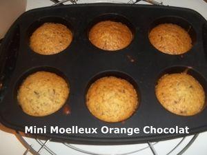 Mini Moelleux Orange Chocolat