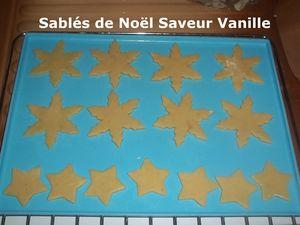 Sablés de Noël Saveur Vanille