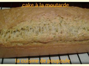Cake à la moutarde au thermomix ou Kitchenaid