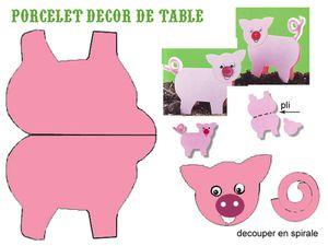 Images à découper et déposer sur votre table pour décorer. Attention il faut y imprimer sur du papier épais styule canson.