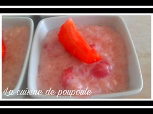 Riz au lait aux fraises au thermomix ou sans