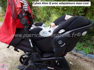 PHOTOS ADAPTATEURS MAXI COSI AVEC CYBEX ATON Q