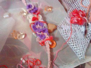 Bracelet with flowers / avec fleurs !