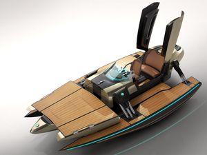 Monocoque, cata ou trimaran - Kormaran, le tender transformer, pour yacht excentrique