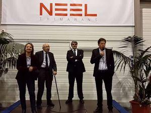 Vidéo - le chantier Neel Trimarans inauguré à La Rochelle (17)