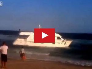 VIDEO - pillage d'un yacht échoué au Brésil