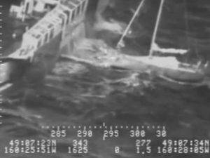Swedish icebreaker rescues French sailor and his cat from stormy waters off Alaskan coast