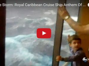 VIDEO - le paquebot géant Anthem of the Seas encaisse une grosse tempête