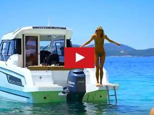 VIDEO - 1.36 minute de Bonheur à bord d'un Merry Fisher 795 de chez Jeanneau