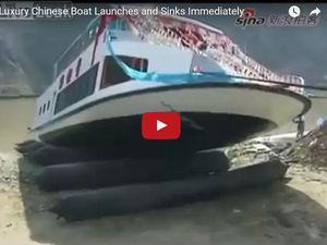 VIDEO - sitôt mis à l'eau, sitôt coulé !