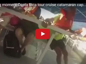 VIDEO - les terrifiantes images du naufrage d'un catamaran touristique au Costa Rica