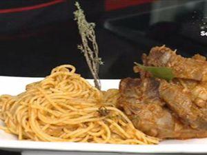 Menu, Samira tv, Algérie - Salade Koslo + Spaghettis à la viande d'agneau