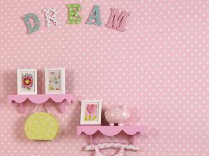 Papier peint à pois Sixpence pour une chambre d'enfant