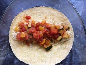 Enchiladas aux petits légumes et chèvre