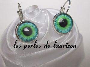boucles d'oreilles regard animal