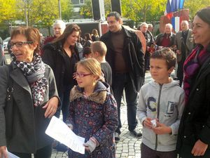 L'Ecole Mi-Plaine aux commémorations de l'Armistice du 11 Novembre à Saint Priest