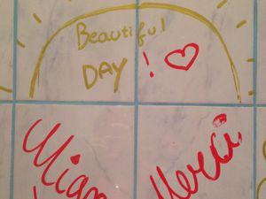 4 décembre, petits messages d'amour partout, partout, partout!