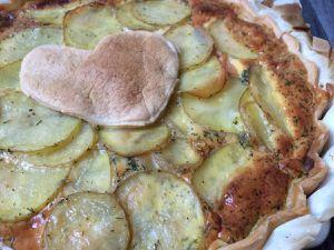 Tarte pommes de terre et saumon