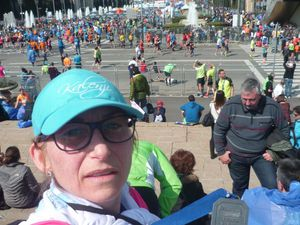 Kathy, finisher au marathon de Barcelone