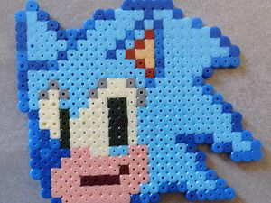 knuckles, Sonic, Tail, Sonia hama beads