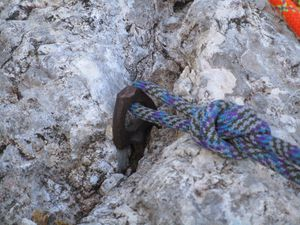 La Cima della Madonna ... 400m et 10 longueurs et un rocher avec des lunules