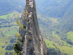 Grandes voies en Drôme ... pour se poser la tête dans le bleu du ciel