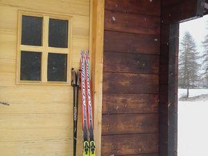 Skating à 1750m et avec les torrents gelés pour s'abreuver d'hiver