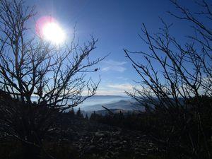 Chemins d'hiver dans le Pilat avec du bleu et du soleil pour se chauffer la tête ...