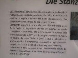 Capitole (1, 2) - Basilique St Pierre (4) - Musée du Vatican (5, 6 Stanza di Raffaello La Segnature)