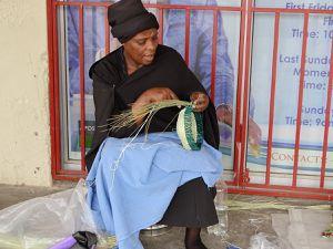 Le chapeu typique du Lesotho.