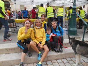 Nos quatre mousquetaires à Ceyreste pour le trail de 15kms