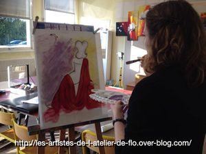 Les artistes de l'atelier en pleine création ... à suivre ! (cliquer sur la photo pour agrandir)