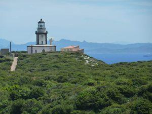 Le sémaphore et le phare de Pertusato