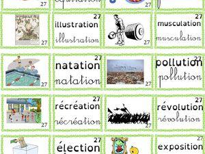 Montessori : série rose, bleue, verte pour lettres mobiles ou dictées muettes