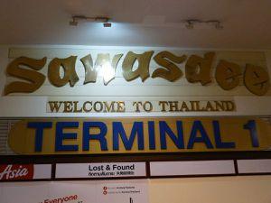 Minivan Lao , minivanThai, Travaux à Ubon Ratchathani , arrivée Bangkok.