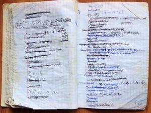 """cahier de notes des clients - bar """"le café du cinéma"""", nantes, 44000."""