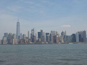 Manhattan vu depuis la mer (euh... sur le bateau ça tanguait!)